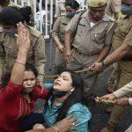 protest against cm yogi in up